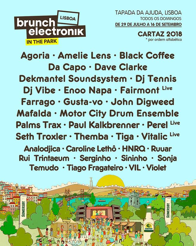 Cartaz Brunch Electronik Lisboa 2018