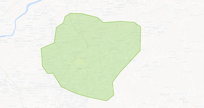 Mapa Braga Uber Eats
