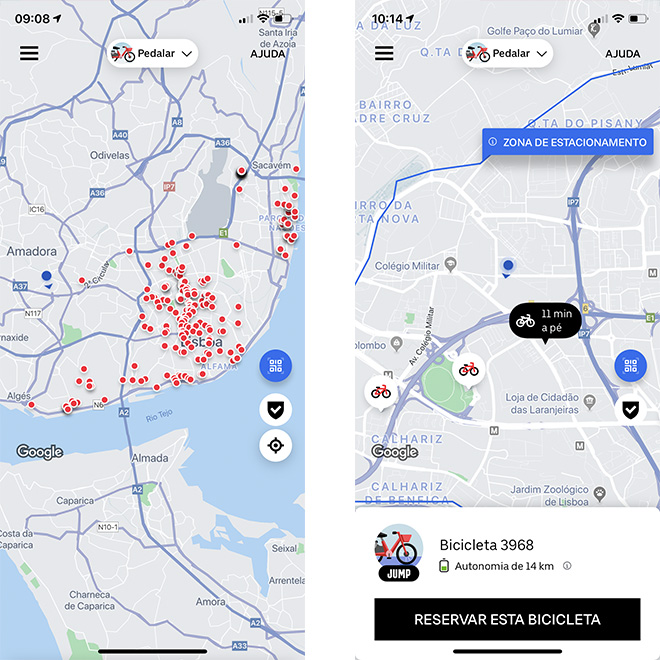 Uber Jump app