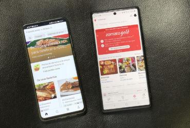 Apps Zomato e Uber Eats