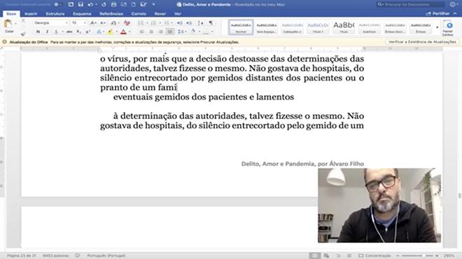 Álvaro Filho Live Facbook ©DR