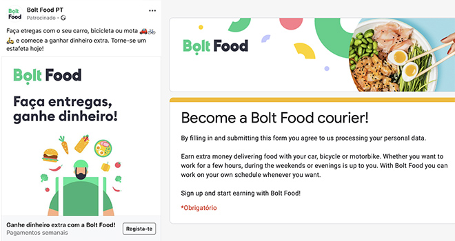 ©Bolt Food - Recrutamento