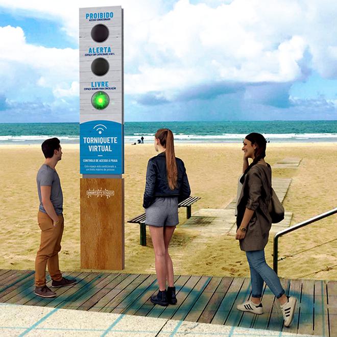 Torniquete Virtual Praias ©Smart City Sensor